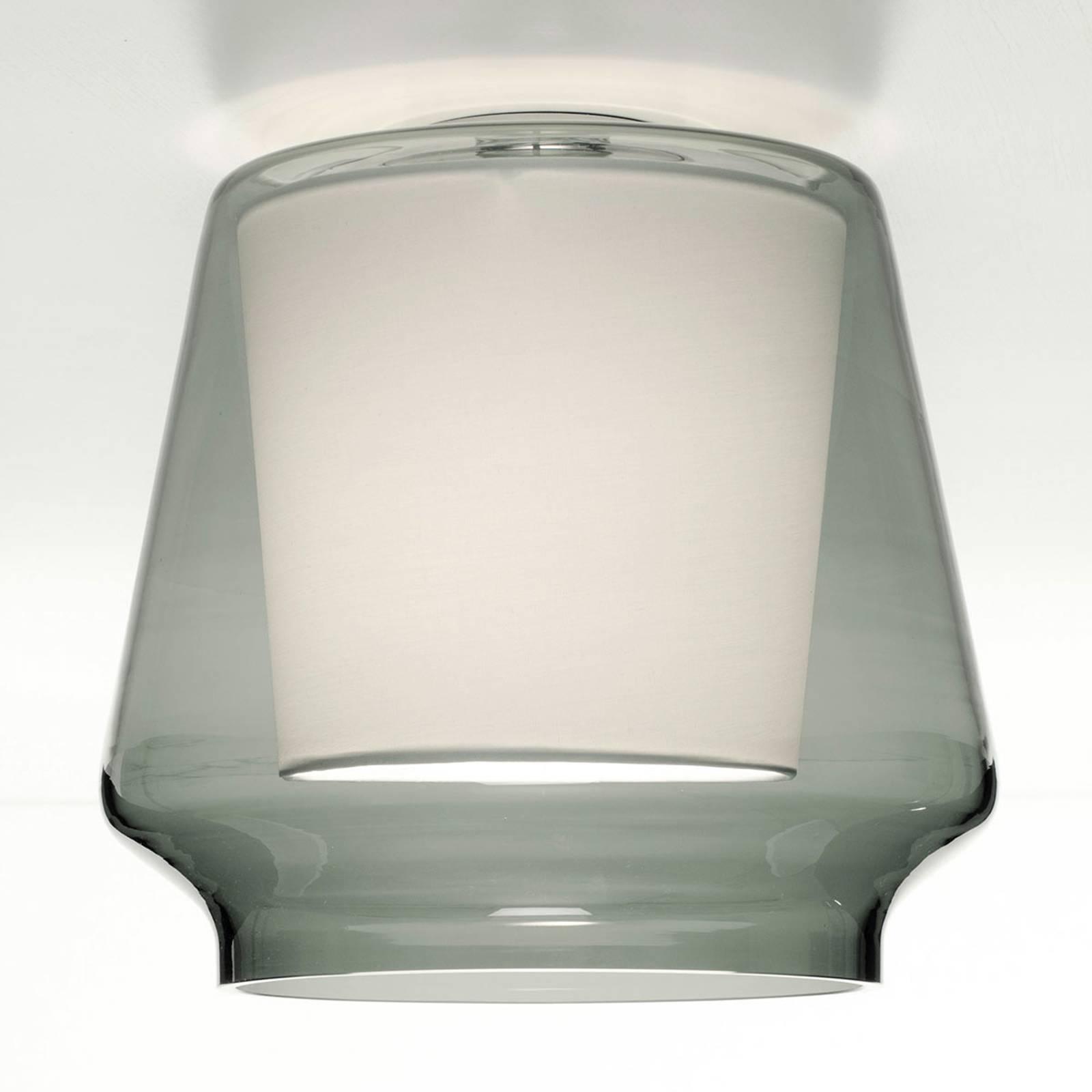 Casablanca Aleve lampa sufitowa, dym, biała