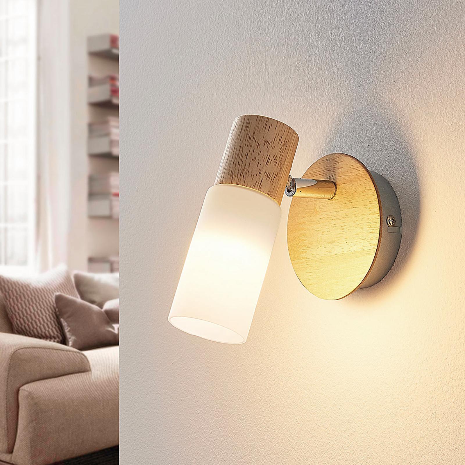 Puinen spottivalo Christoph, LED-lamppu
