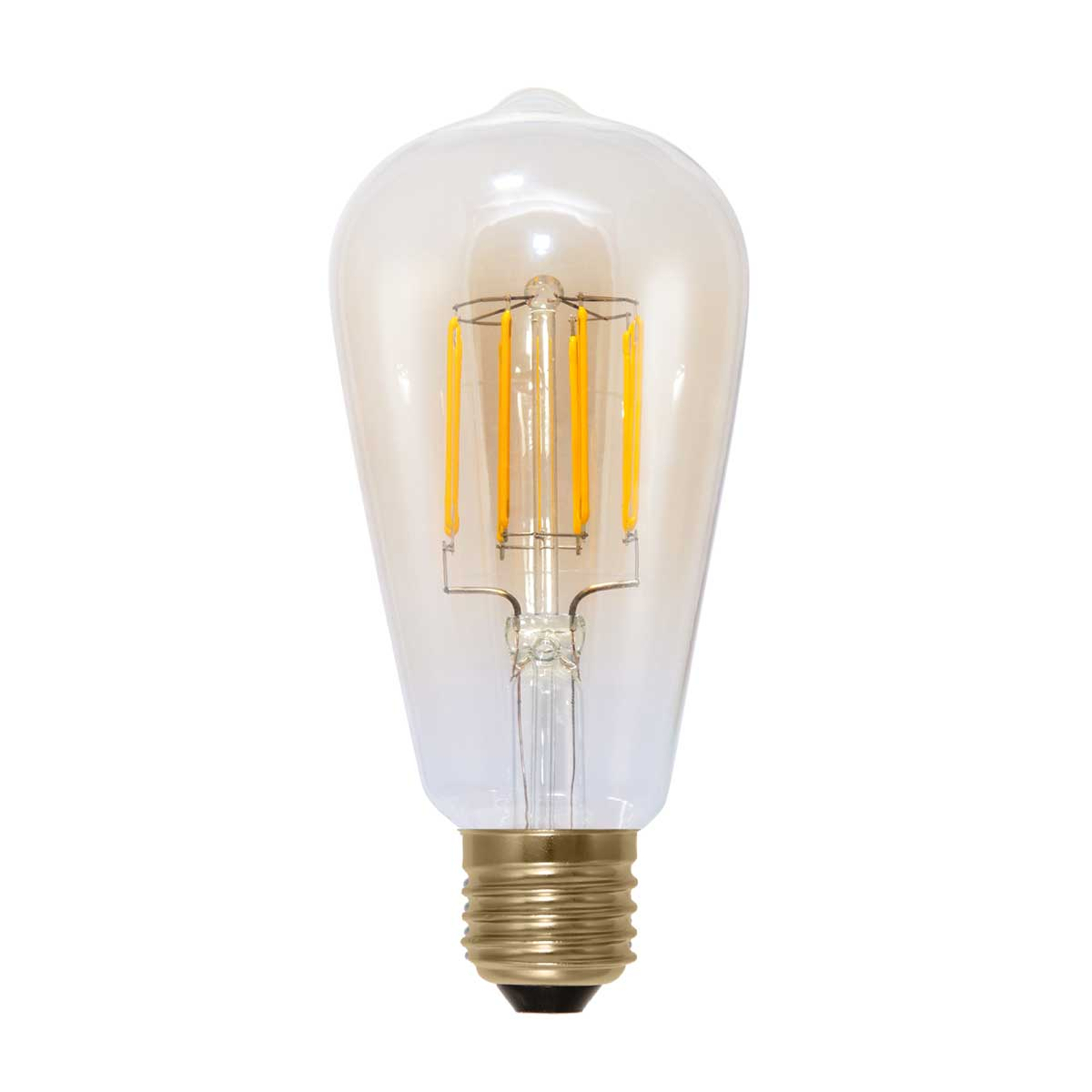 E27 6W 820 LED-rustikpære i kulfiber optik