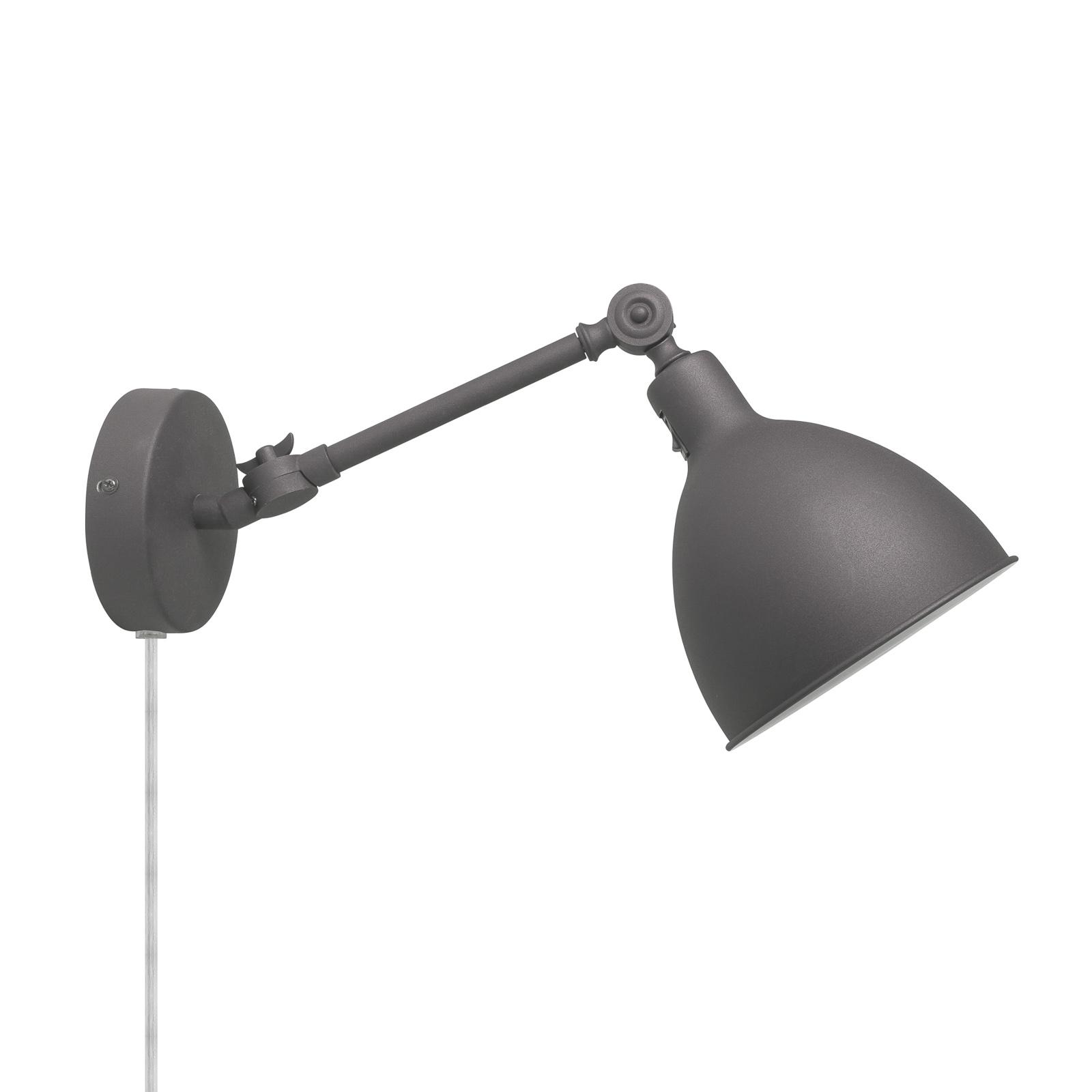 By Rydéns Bazar Mini Wandlampe mit Stecker grau