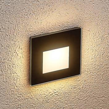 Arcchio Vexi lampe encastrée LED angulaire noire