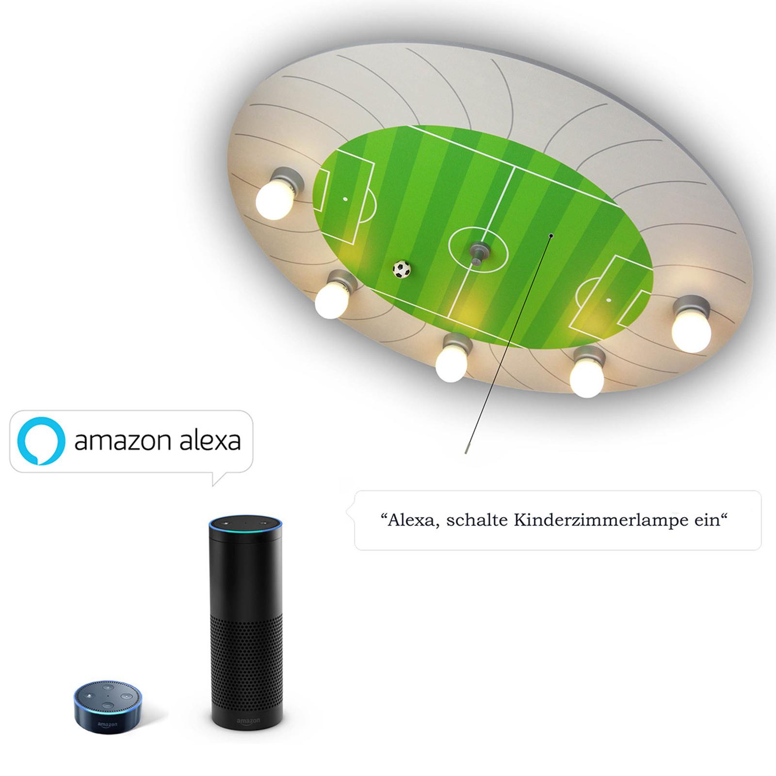 Voetbalstadion plafondlamp met Alexa-module