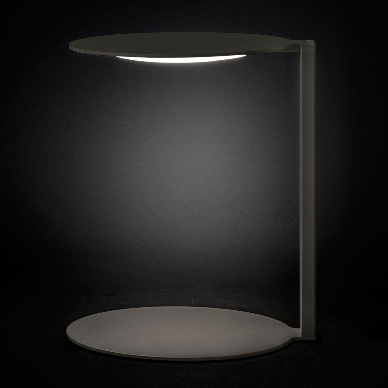Oluce Duca - donkergrijze LED designer tafellamp