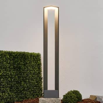 Toppmodern LED-gatlykta Jeny i mörkgrått