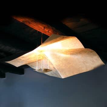 Taklampa Crash belagd med bladguld 150 cm