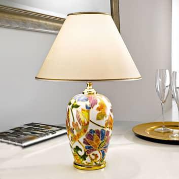 Lampa stołowa Damasco z 24-karatowym złotem
