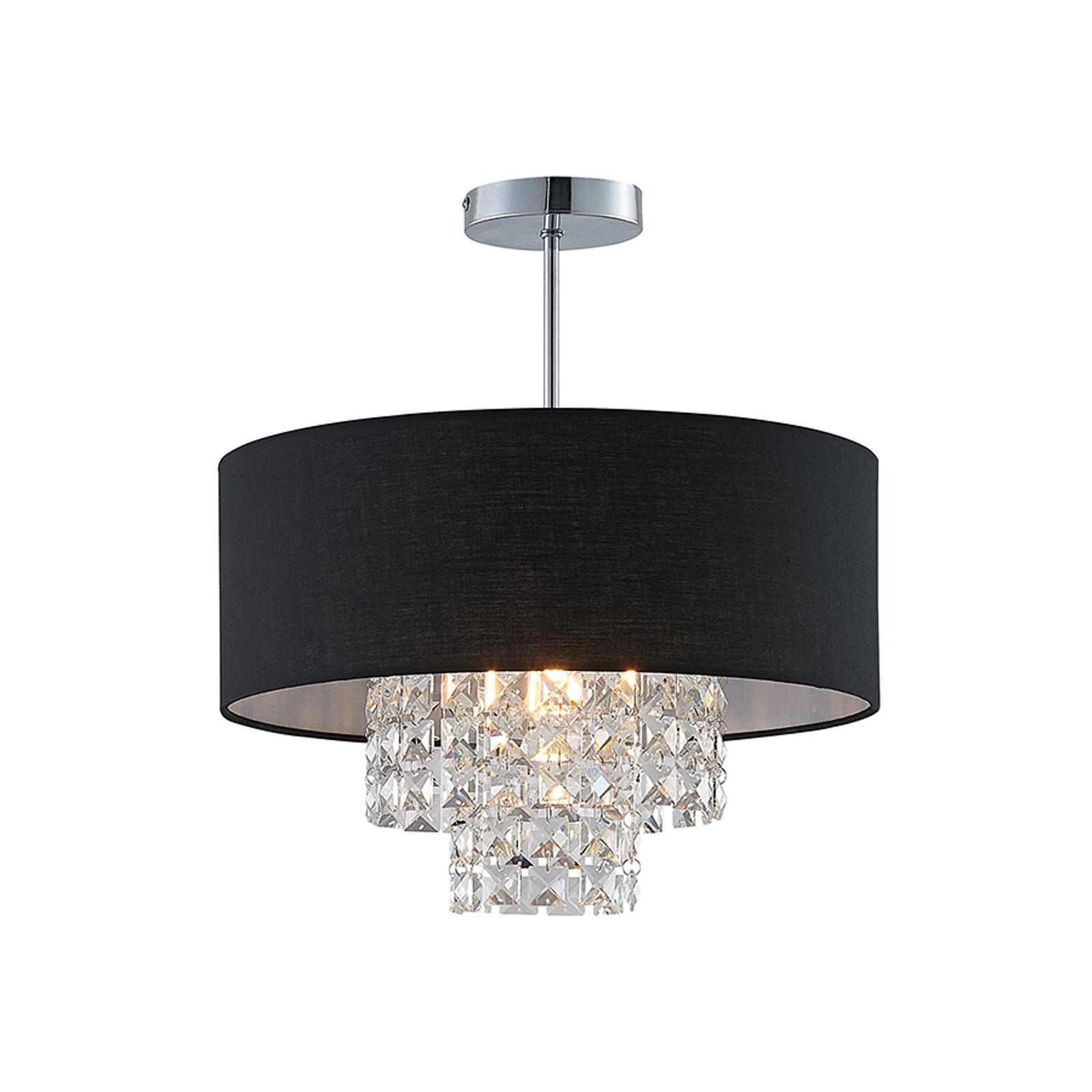 Lindby Estera taklampe med oppheng, svart