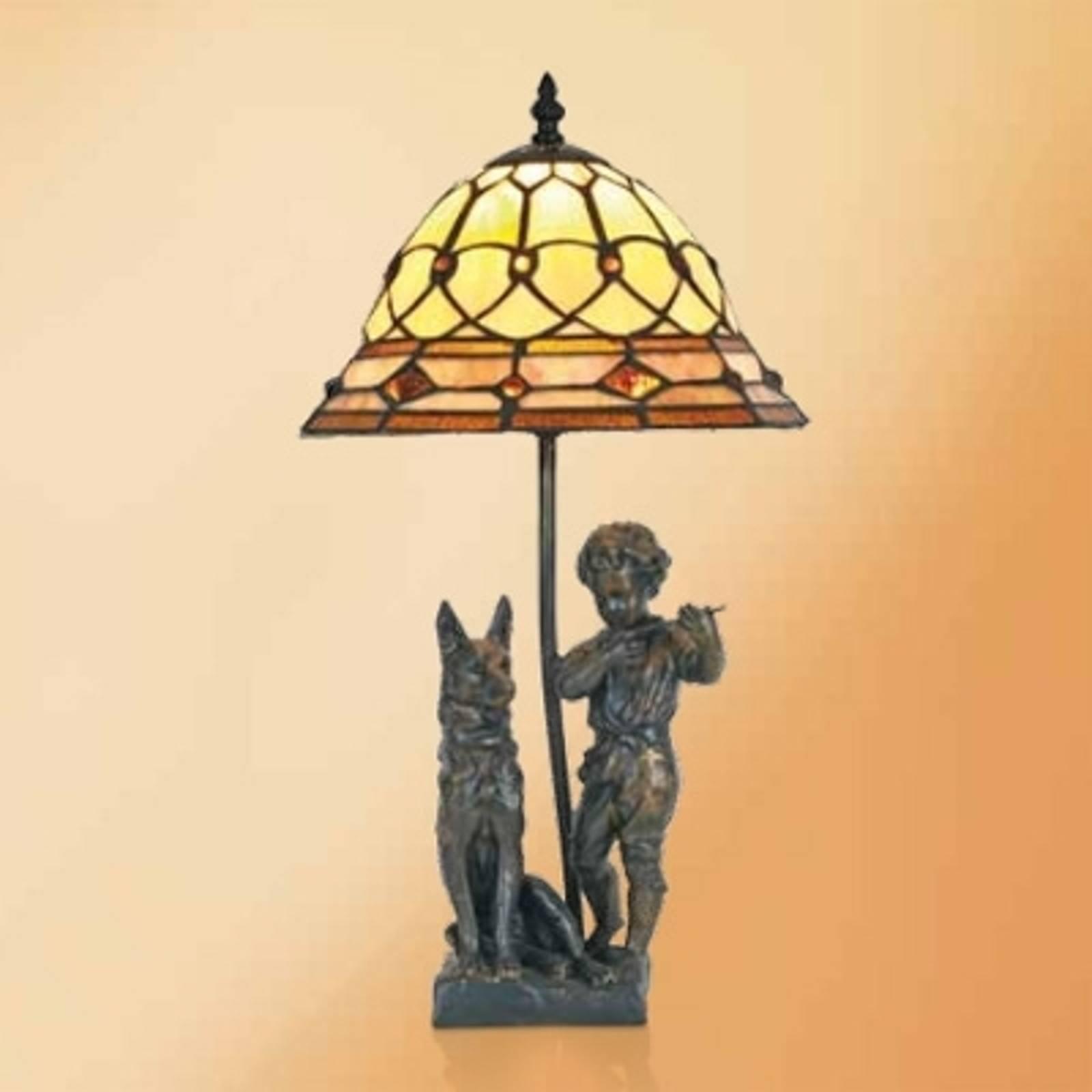 Hugo - tafellamp met figuren uit kunsthars Tiffany