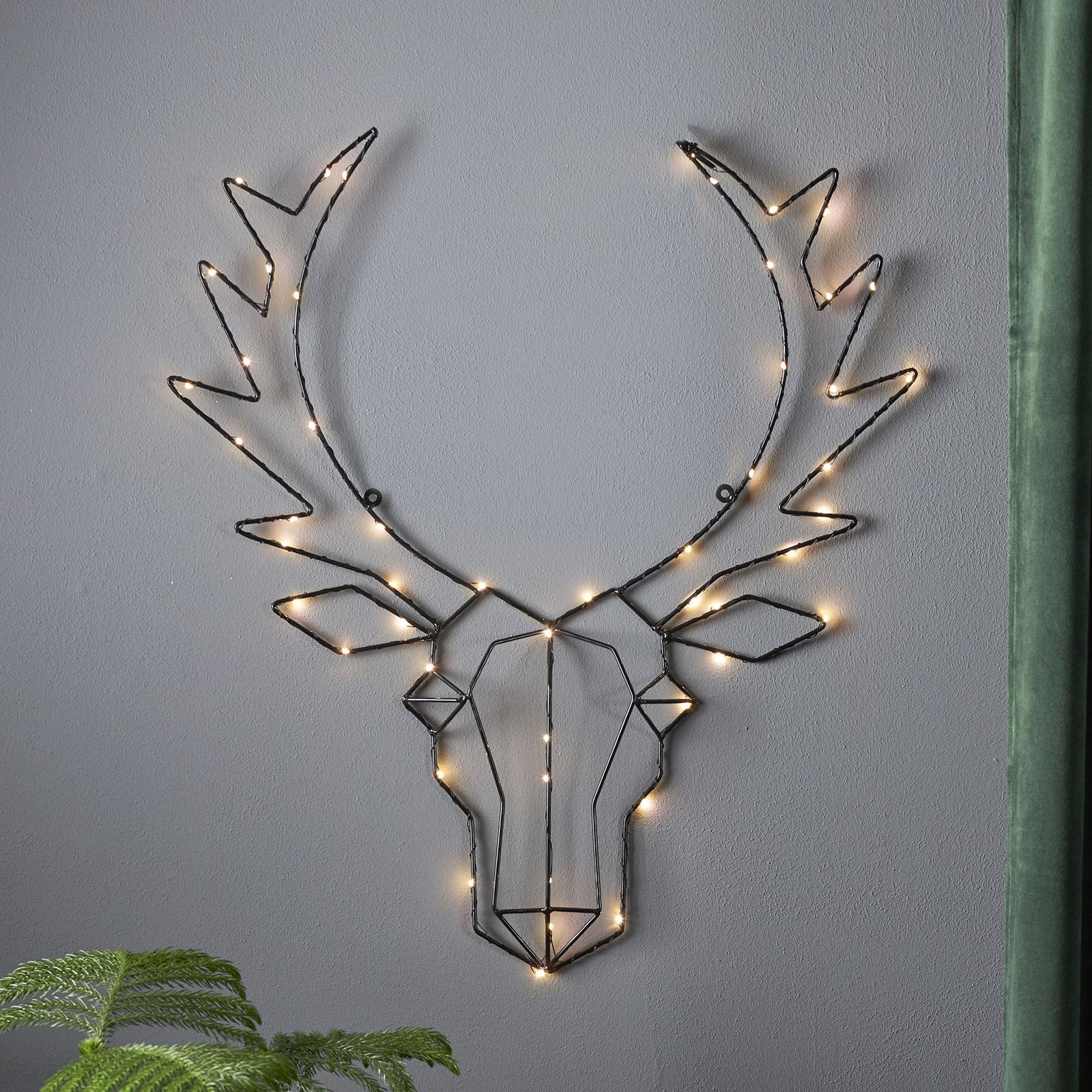Oświetlenie dekoracyjne LED Cupid, Głowa renifera