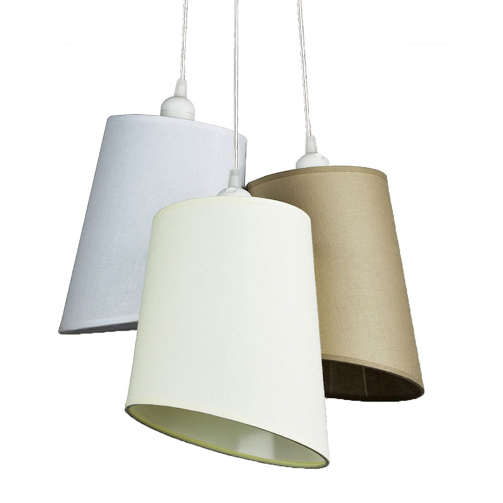 Lampa wisząca Verona biała 3-pkt. biała/écru/beż