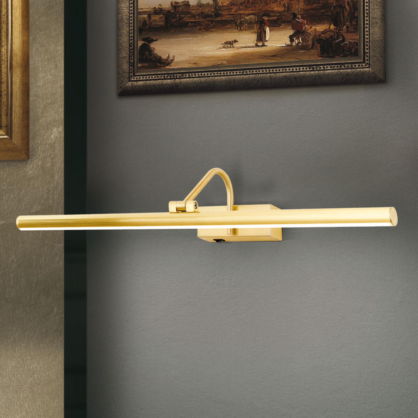 Applique pour tableau LED Sofia, dorée - 60 cm