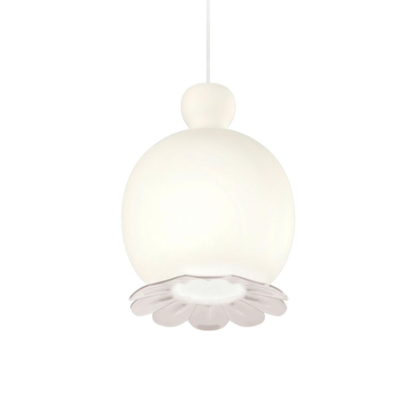 Kundalini Opyo lampa wisząca dmuchane szkło, biała