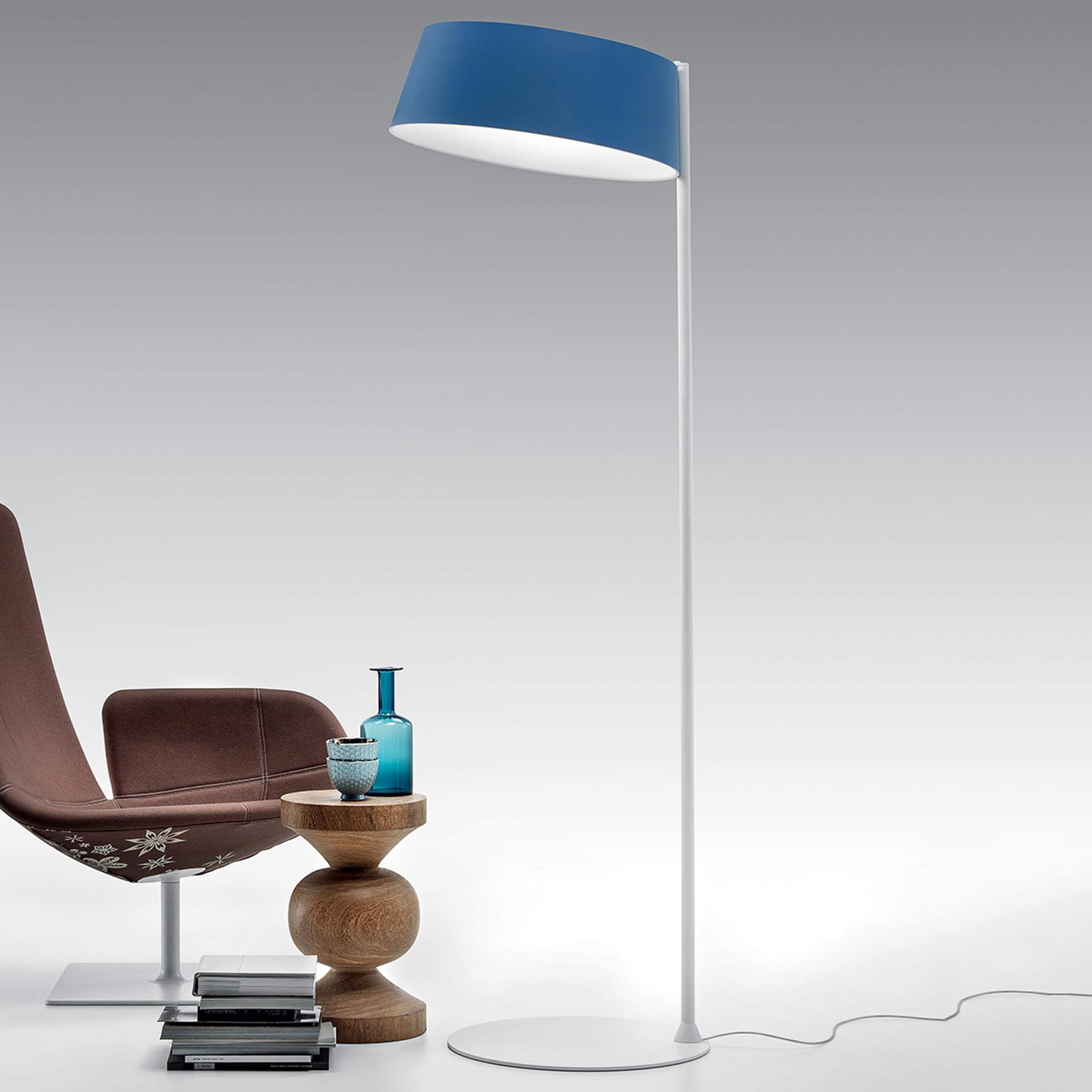 In azuurblauw ontworpen LED vloerlamp Oxygen_FL2