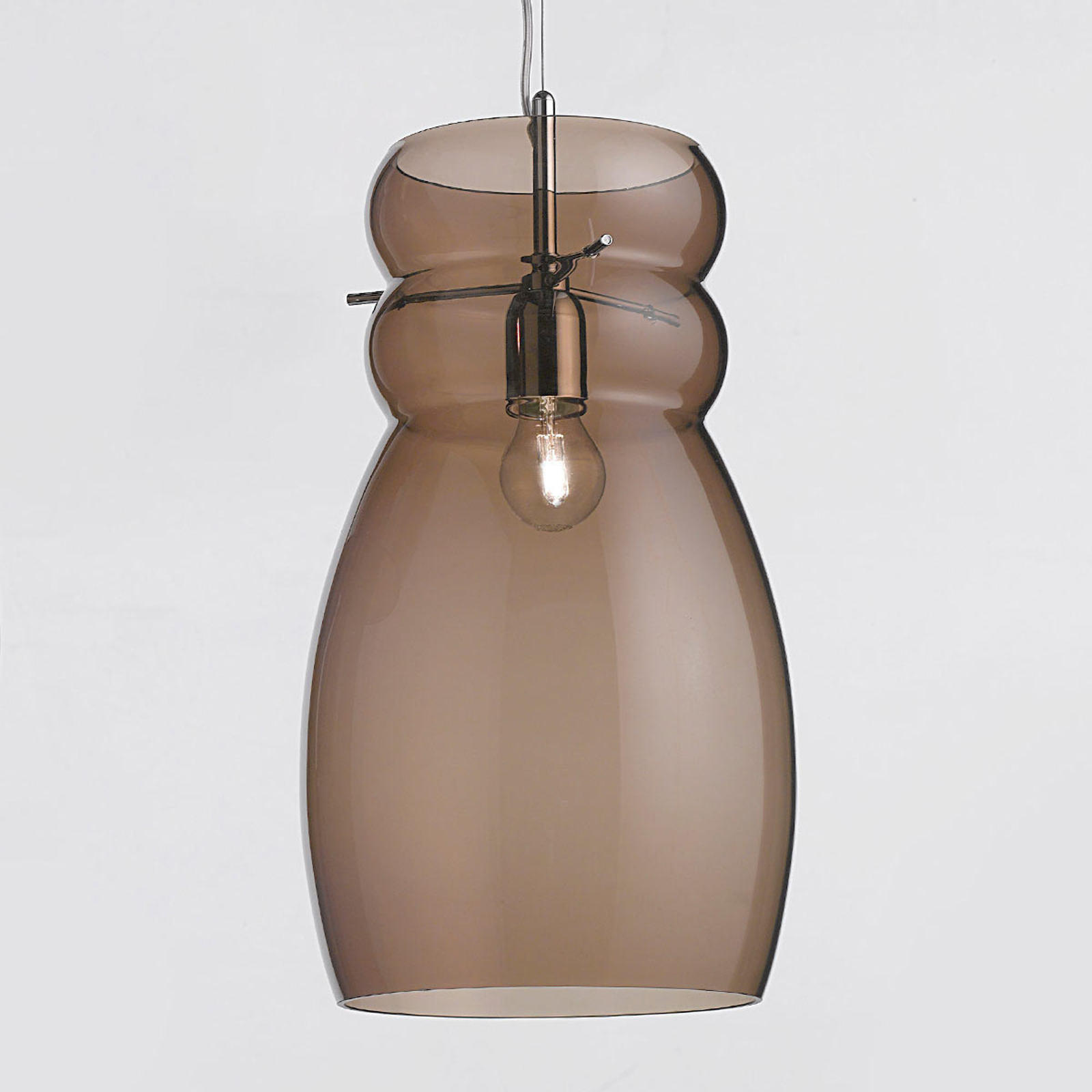 Giove - suspension en verre 25 cm brune