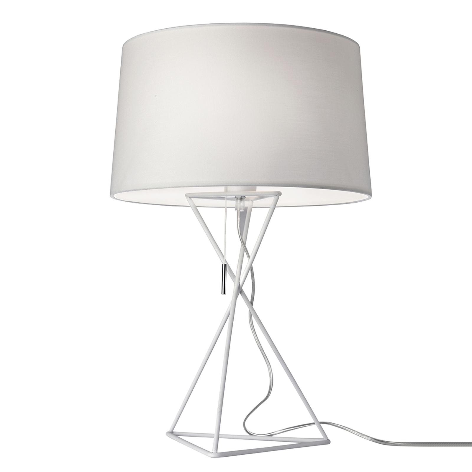 Lampe à poser New York en textile blanc