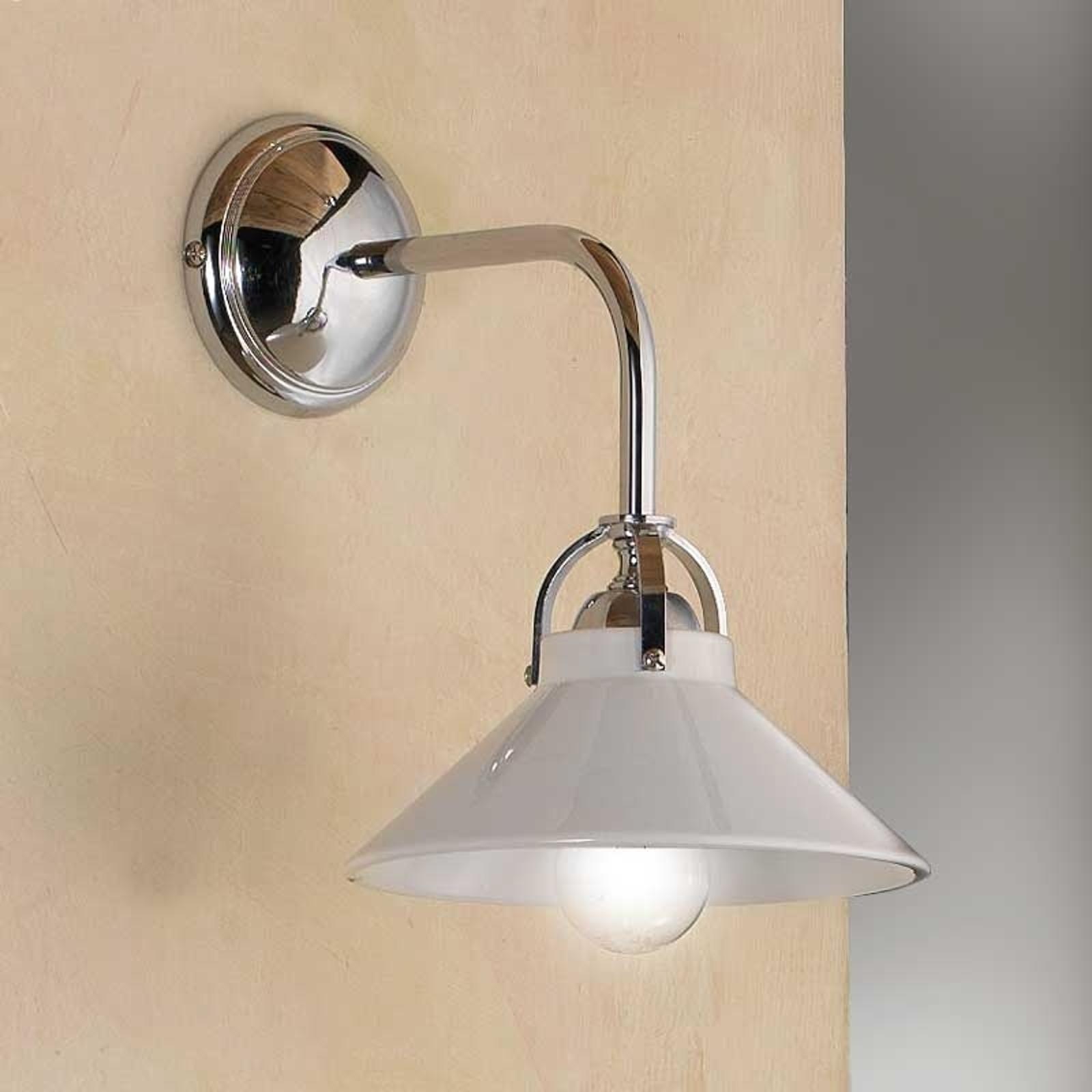 Lampa ścienna GIACOMO z ceramicznym kloszem