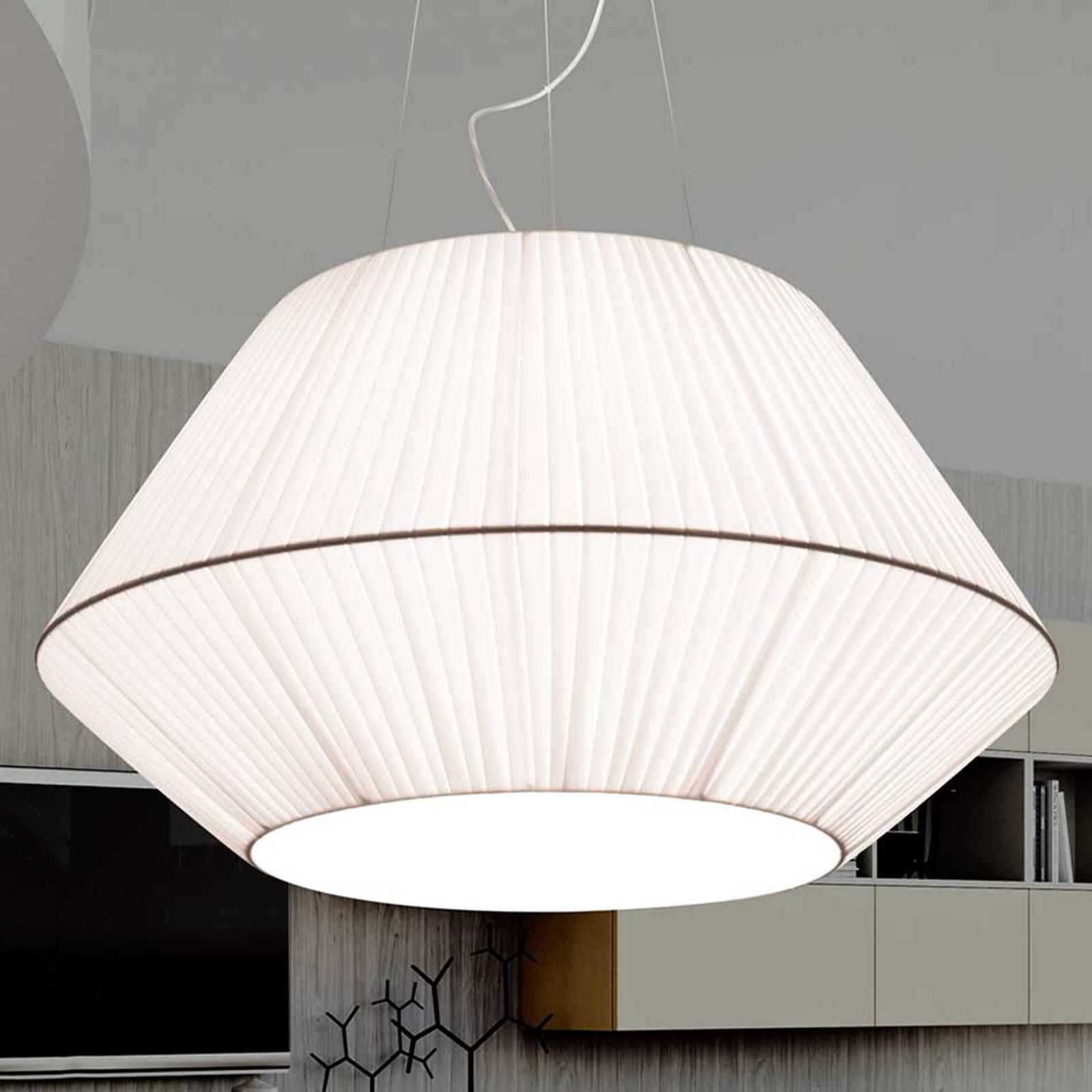 Met organza-zijden kap - Hanglamp Sheraton