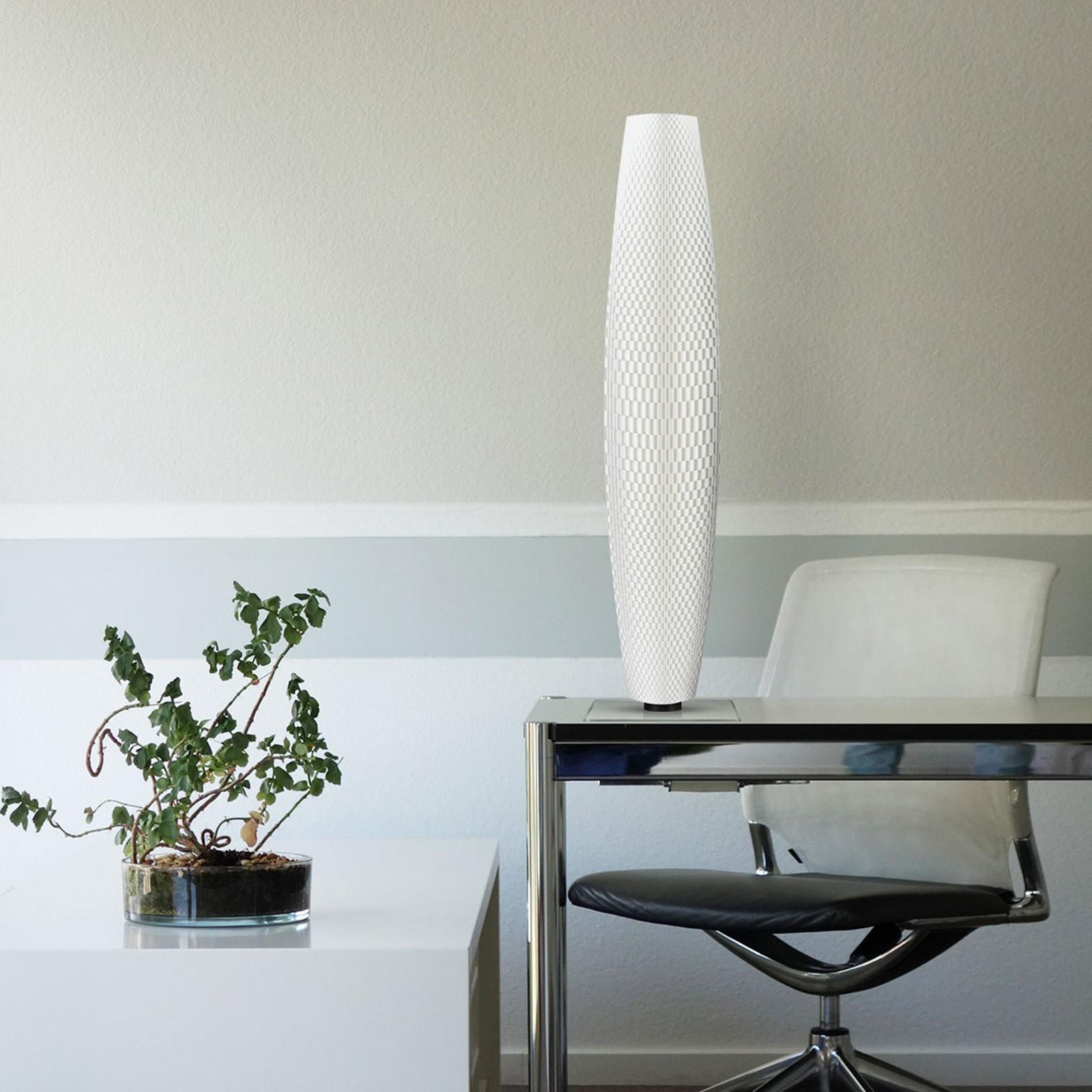 Lampadaire LED Tressage Pur 75 blanc, 75cm