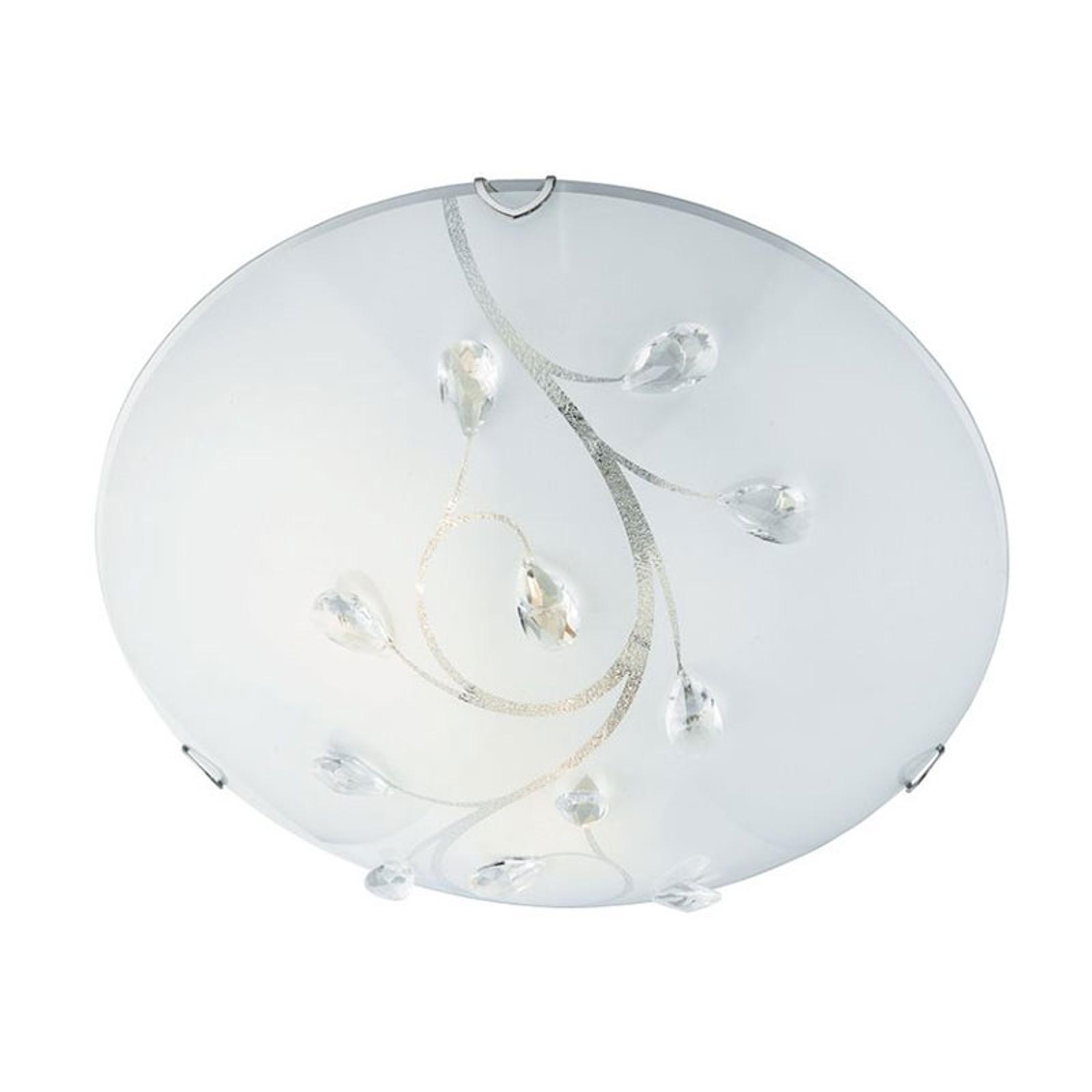 Szklana lampa sufitowa Flush Flower, Ø 40cm