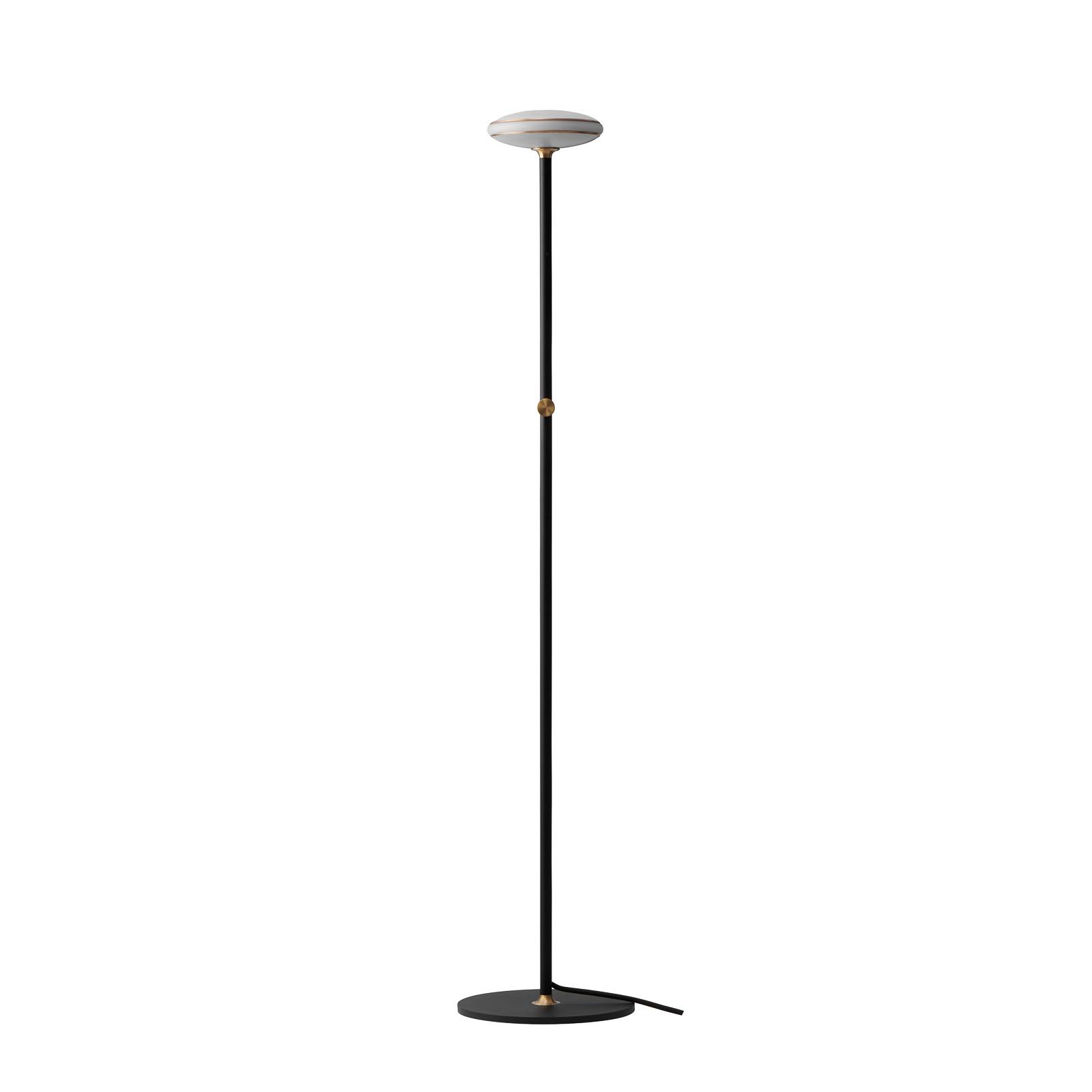Shade ØS1 lampa stojąca mosiądz podstawa czarna