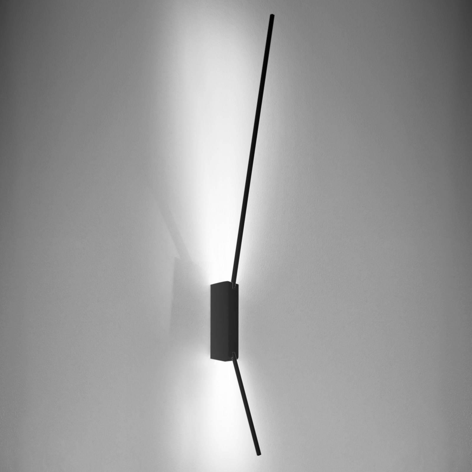Led-wandlamp Spillo, 80 cm, zwart