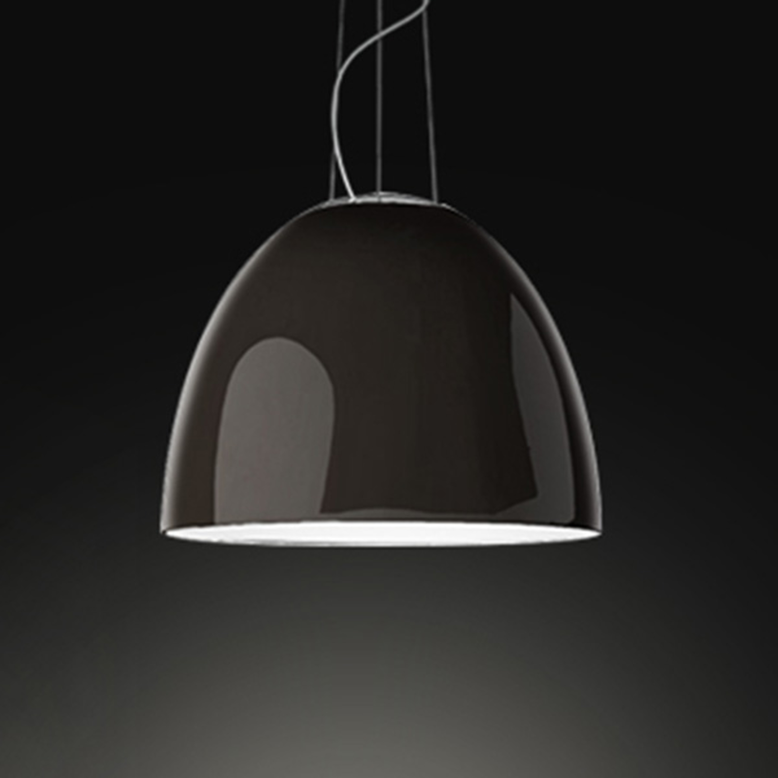Artemide Nur Gloss suspension via appli grise