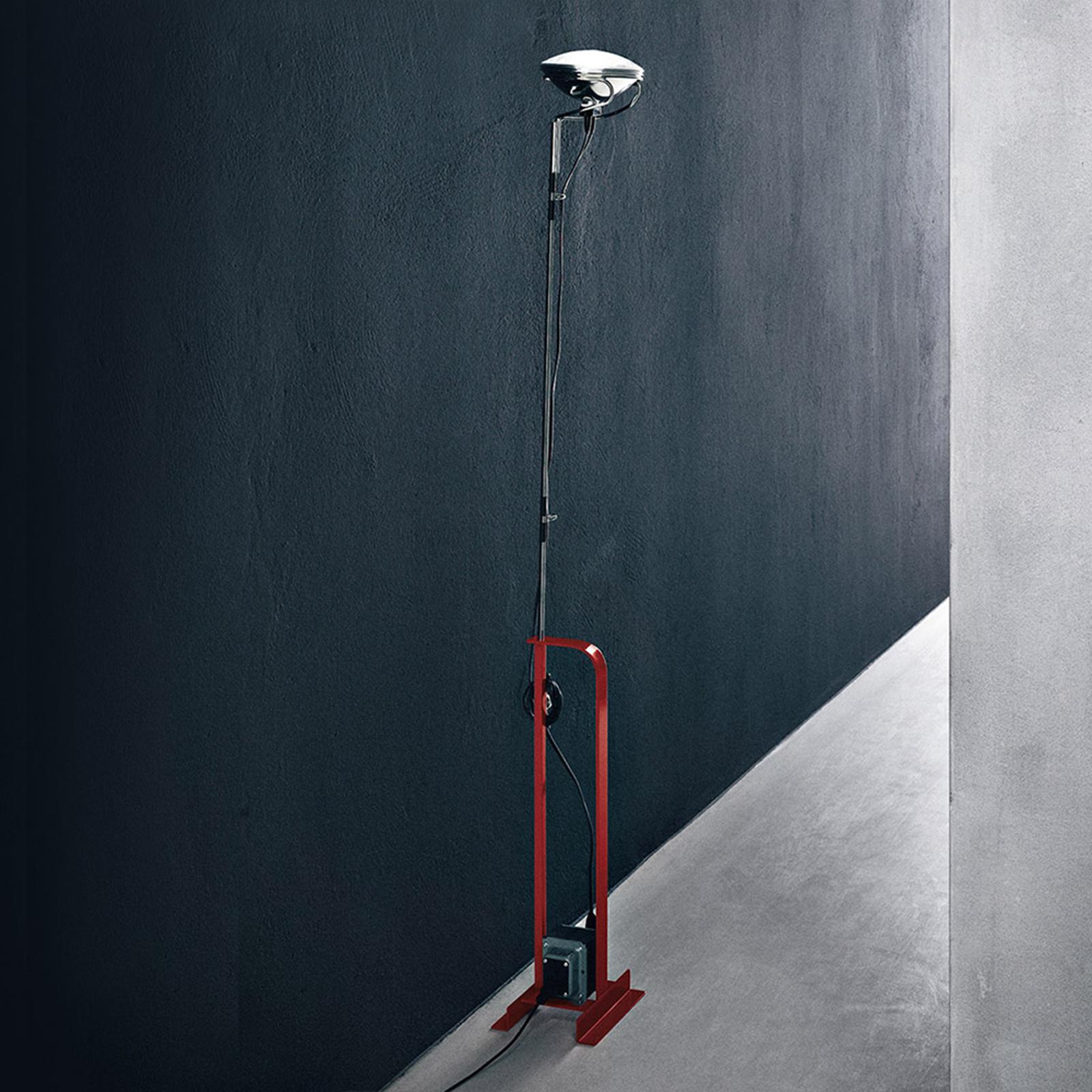 FLOS Toio - Industriedesign-Stehleuchte, rot