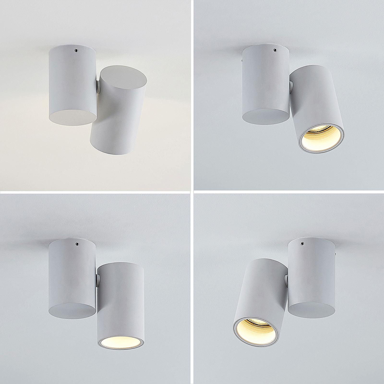 Plafonnier Gesina, 1lampe, blanc