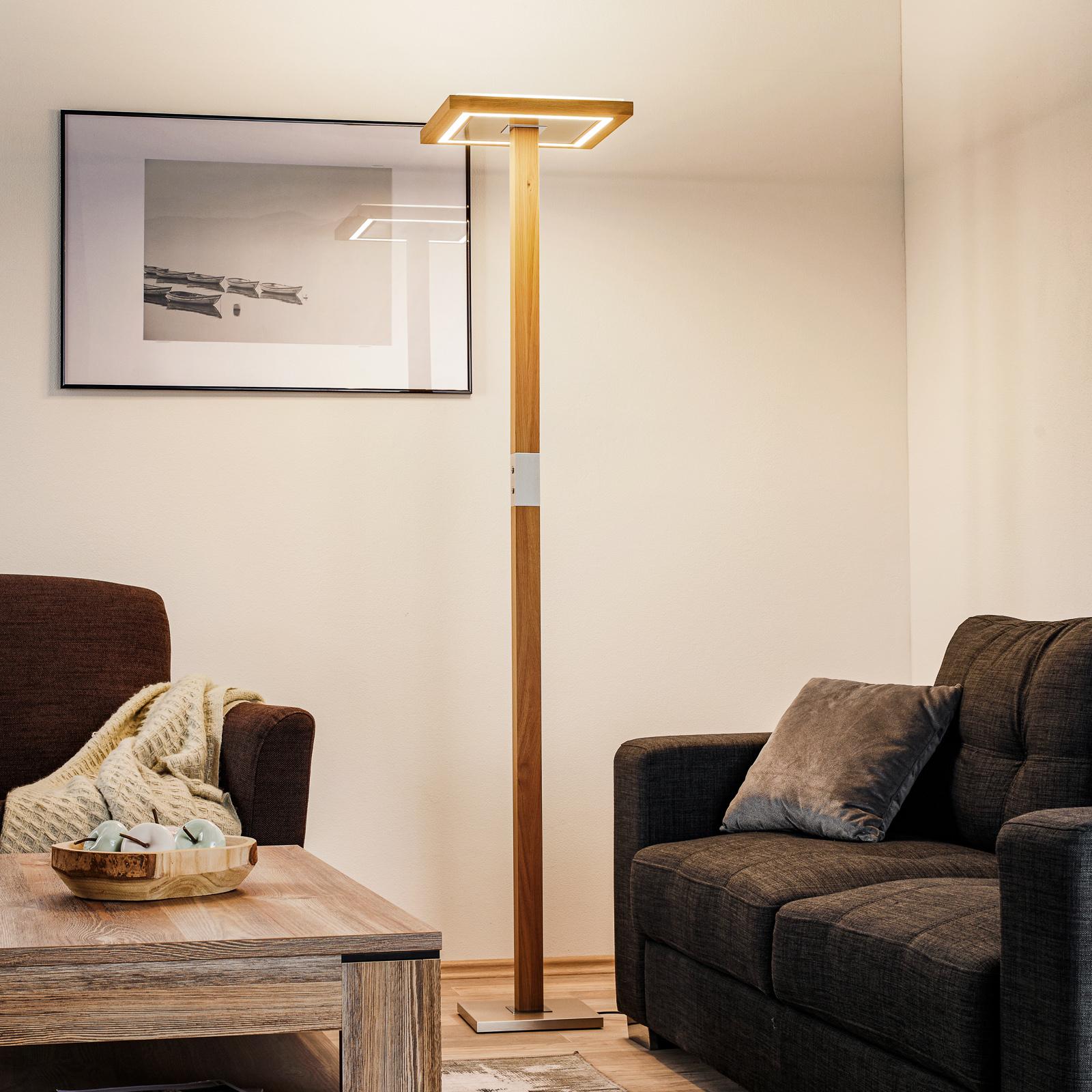 HerzBlut Otto O LED-golvlampa ek natur
