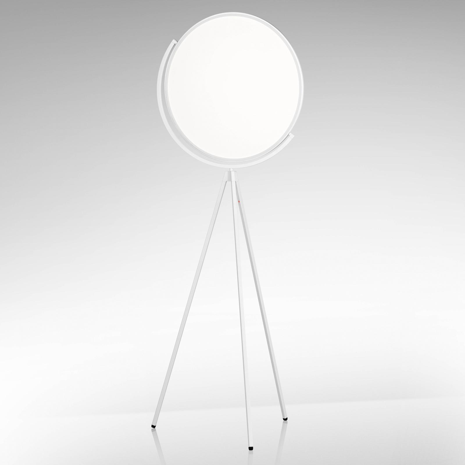Witte designvloerlamp Superloon met LED