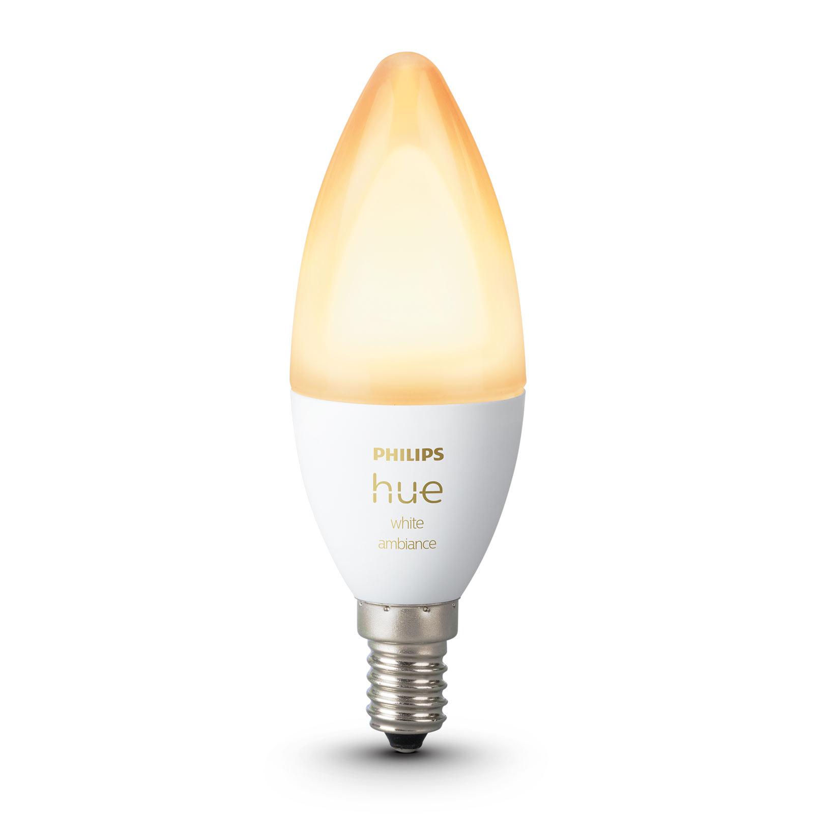 Philips Hue kronljuslampa White Ambiance E14 5,2W