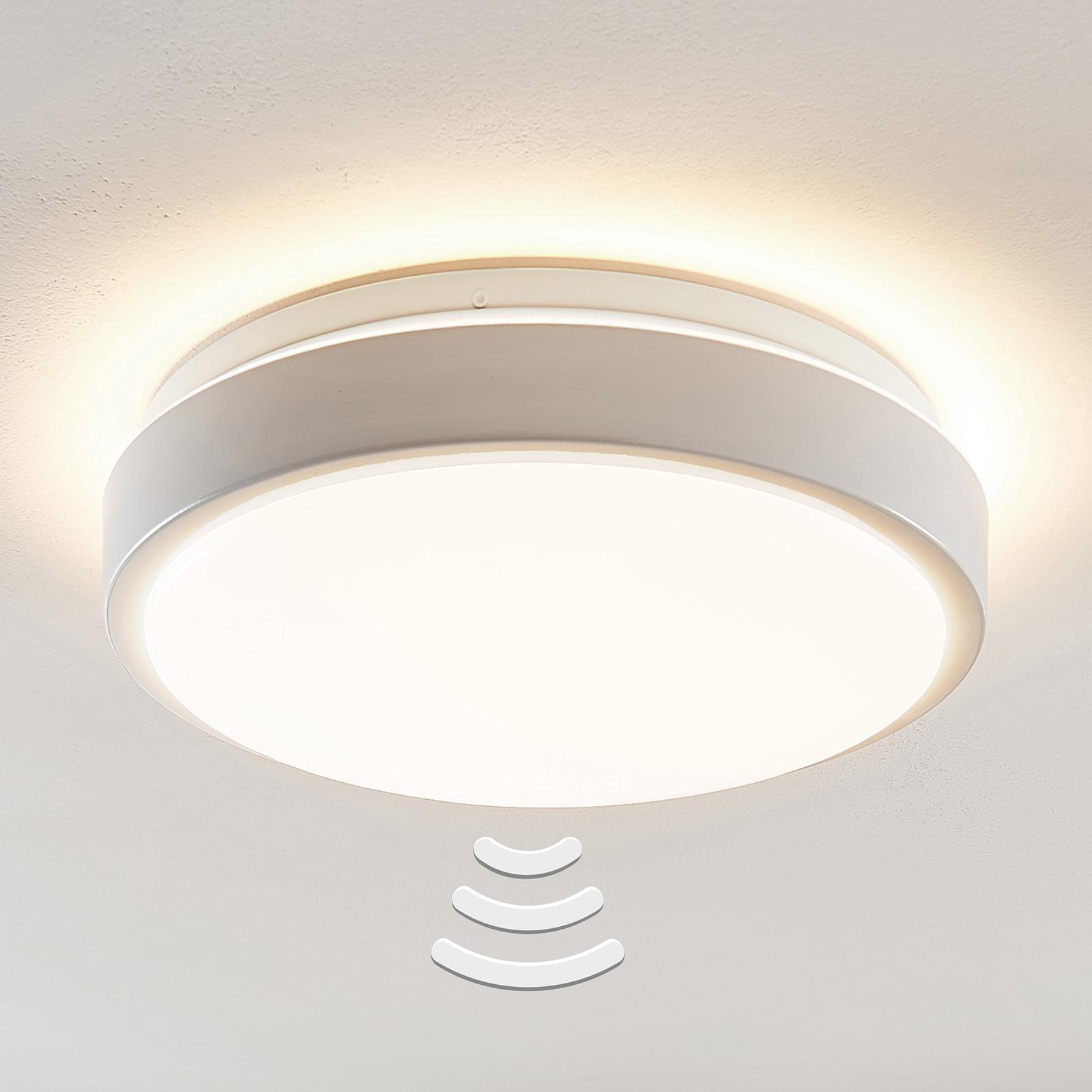 Lindby Camille lampa sufitowa LED Ø33cm biała