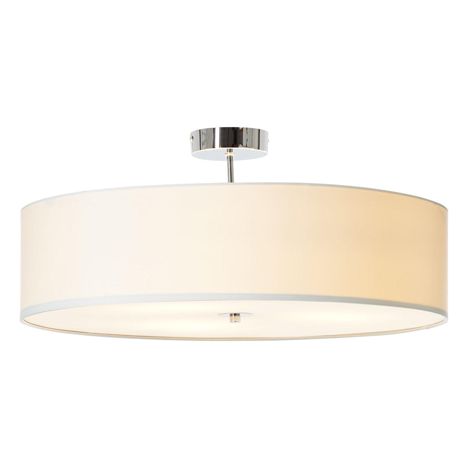 Efectiva lámpara de techo Andria tela, blanca