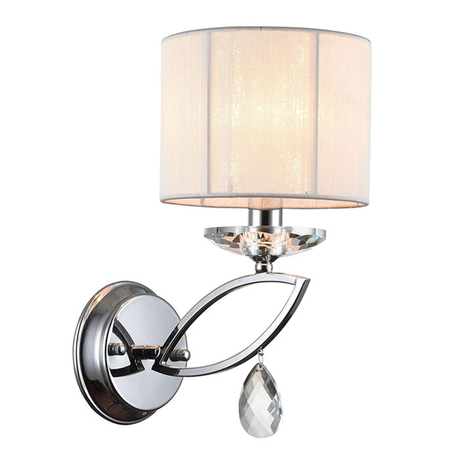 Wandlamp Miraggio met kristalbezetting