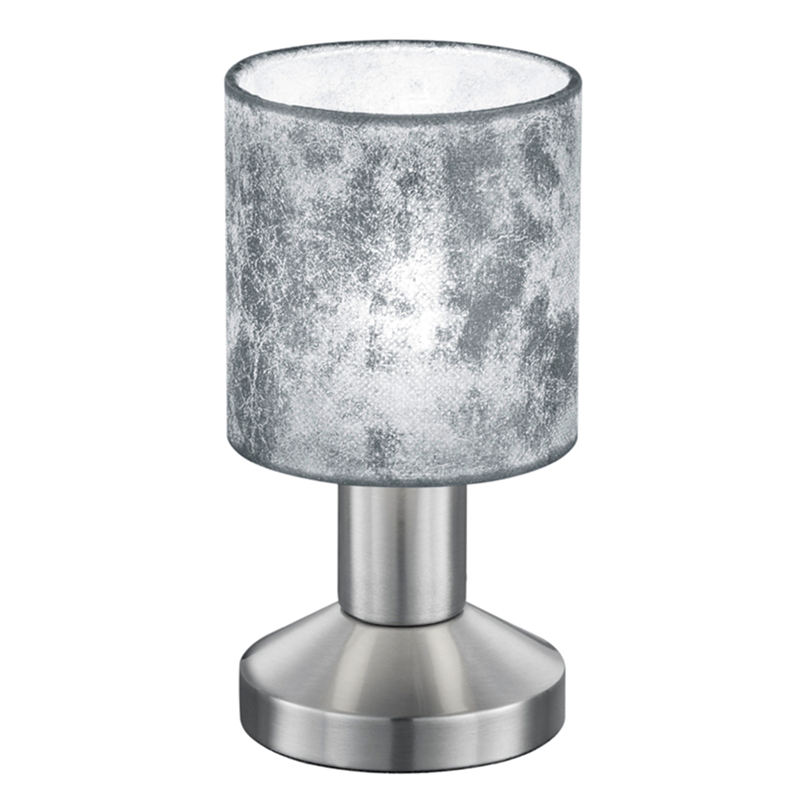 Sølvfargede plastskjermer bordlampe Garda