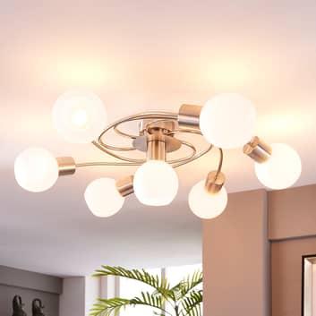 LED-Deckenleuchte Ciala, 7-flammig, nickel