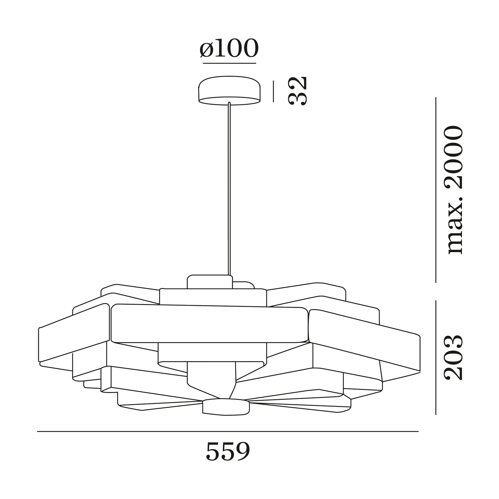 WEVER & DUCRÉ J.J.W. 04 hanglamp zilver