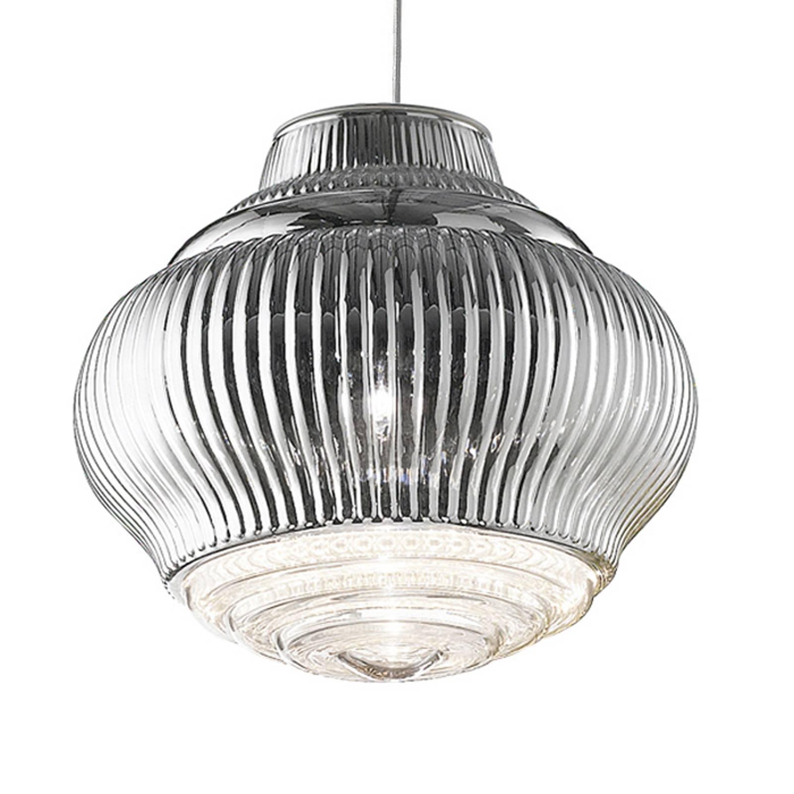 Lampa wisząca Bonnie 130 cm srebrna metallic