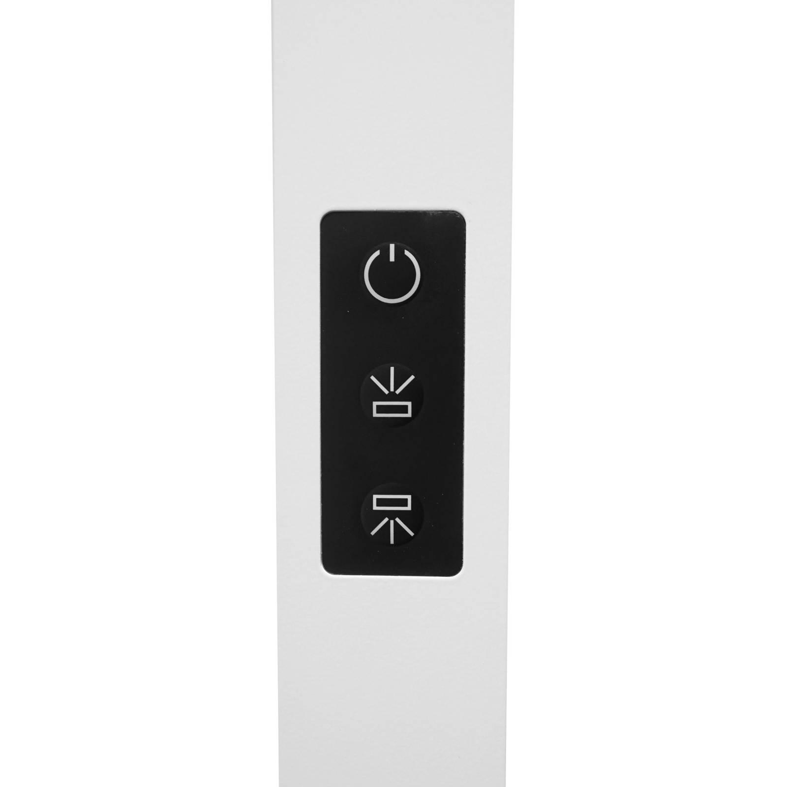 Lampadaire de bureau LED Somidia, capteur, blanc
