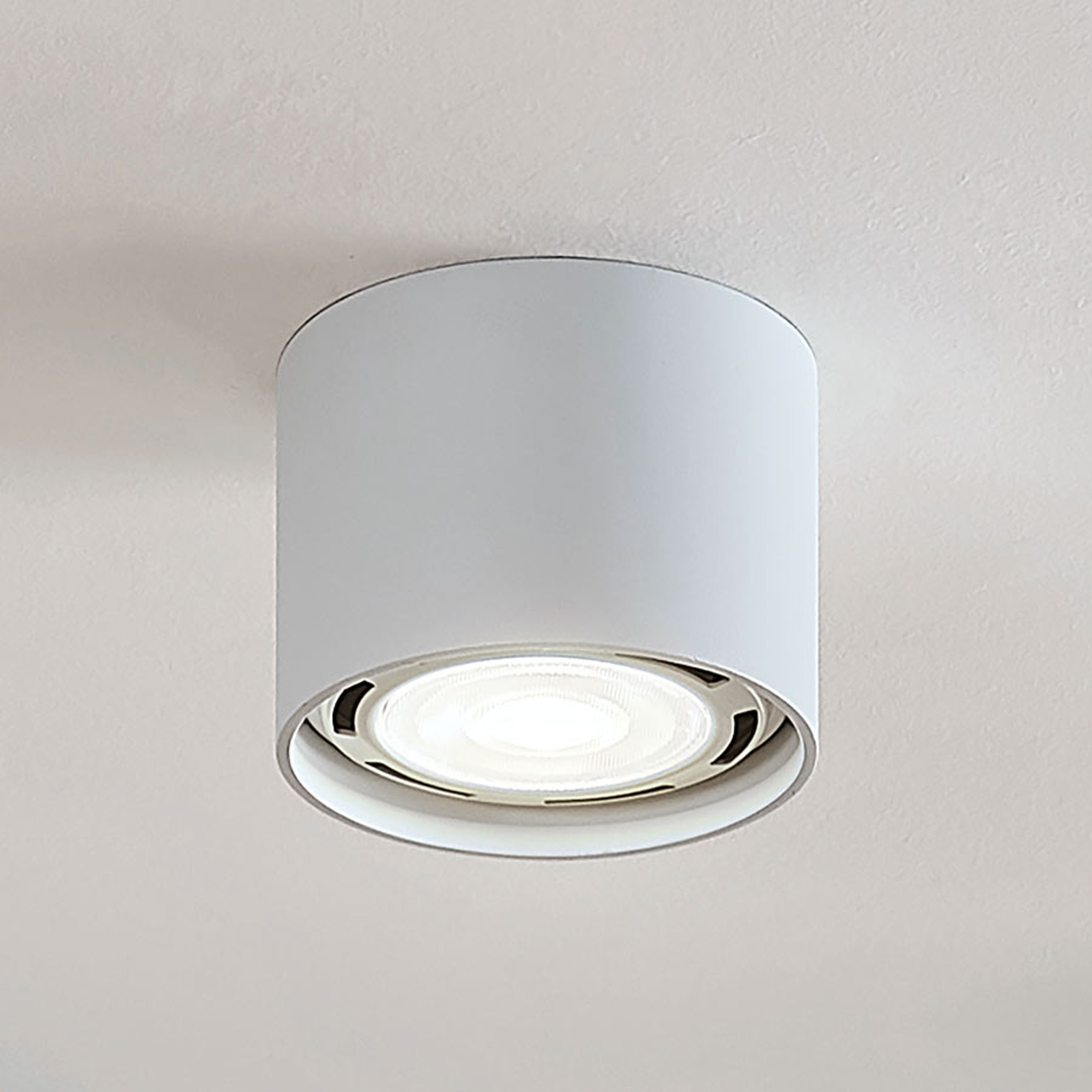 LED-takspot Mabel, rund, hvit
