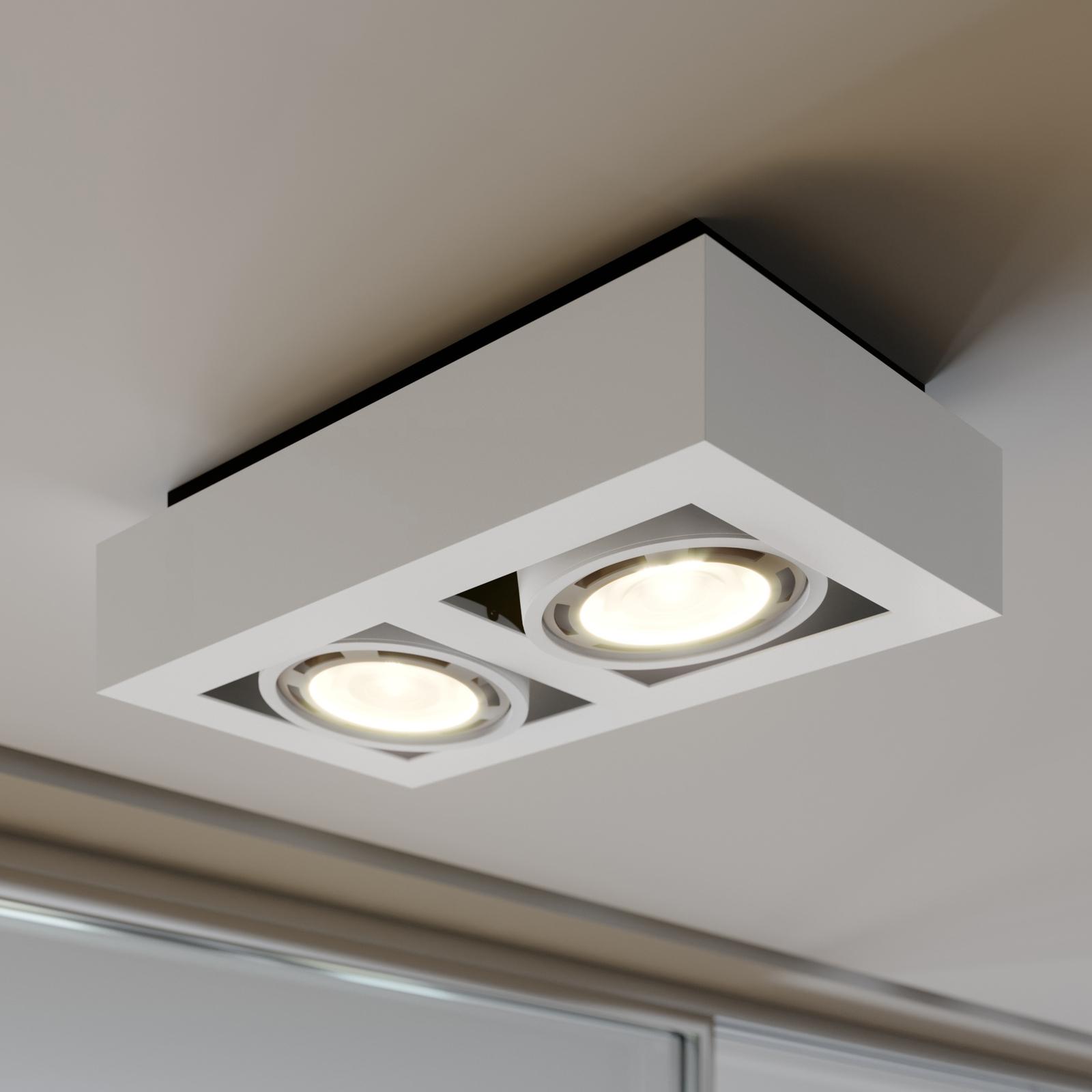 LED-Deckenstrahler Ronka, GU10, 2-fl., weiß