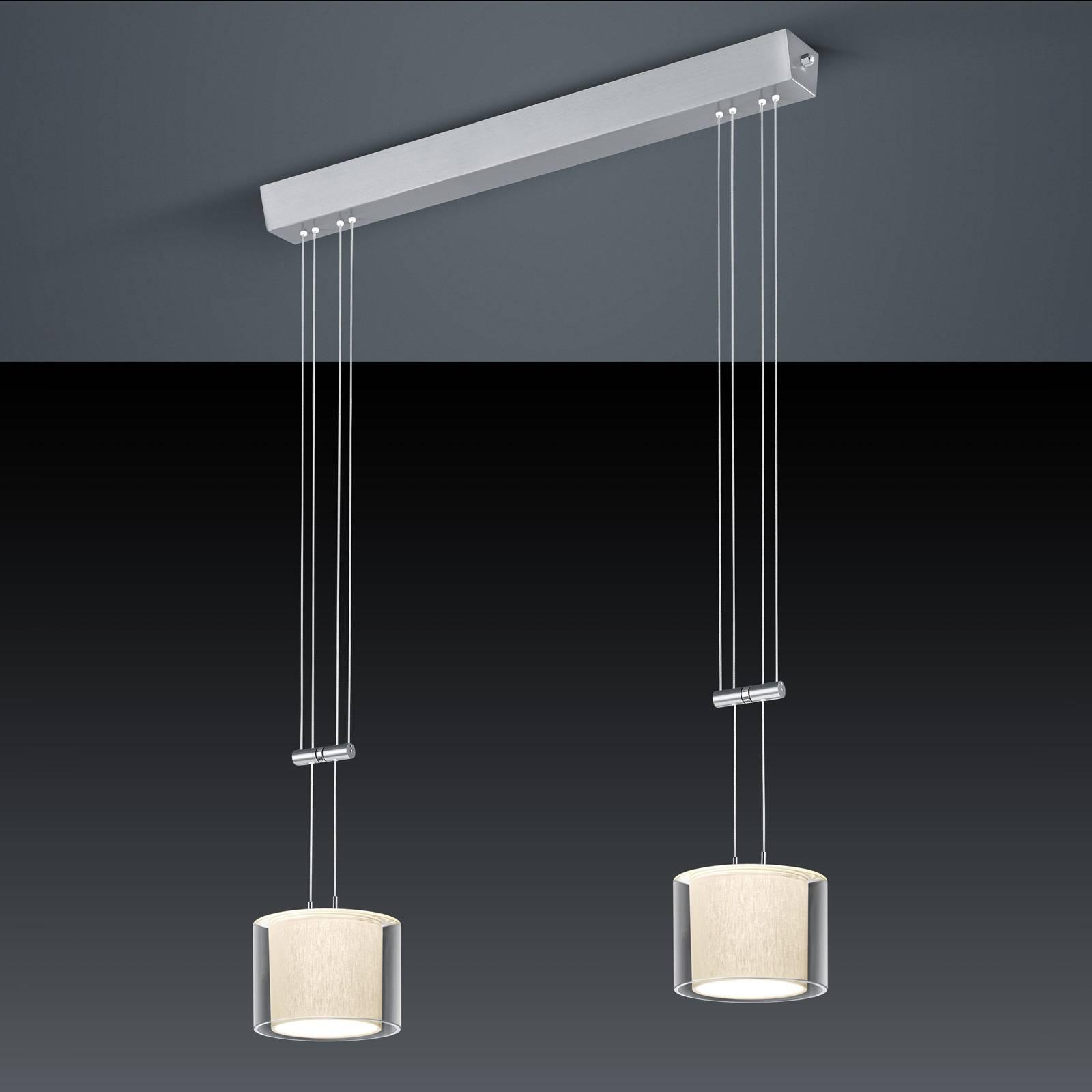 BANKAMP Cecil suspension LED, à 2 lampes