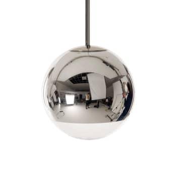 Lampada a sospensione sferica Mirror Ball cromo