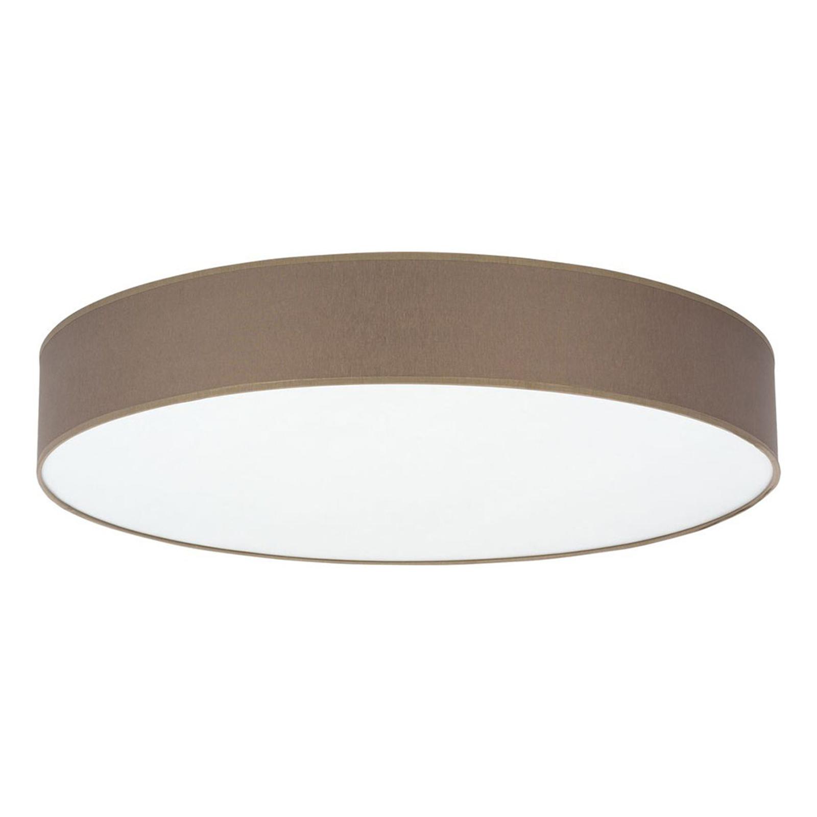 Lampa sufitowa Rondo, Ø 80 cm, brązowa