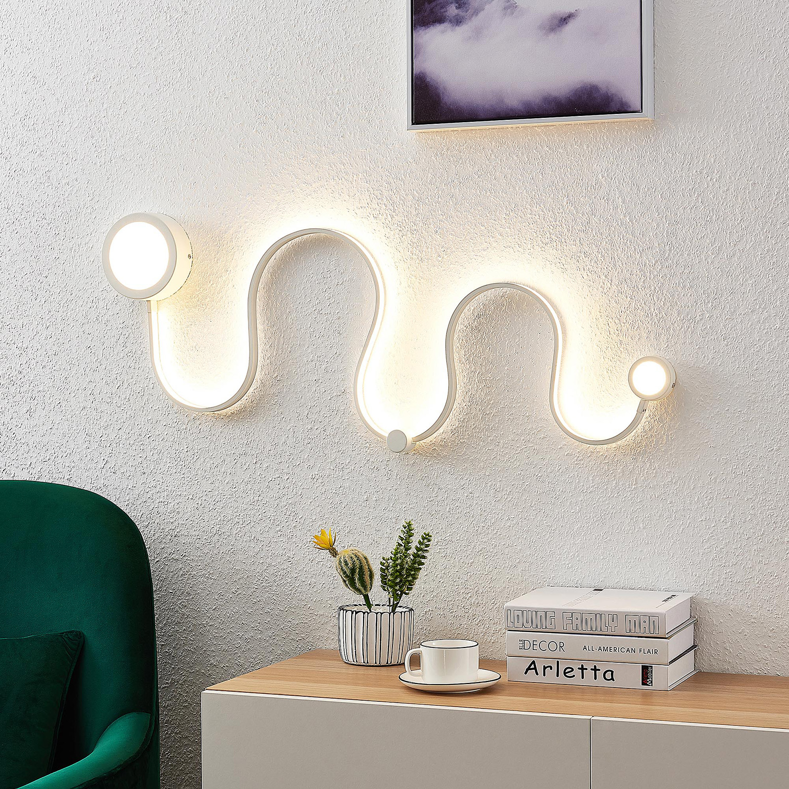Lindby LED-vegglampe Annegrit, dimbar, 25 W