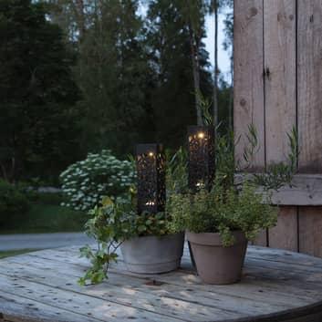 LED solar-sfeerlamp Izola met aardspies 2 per set