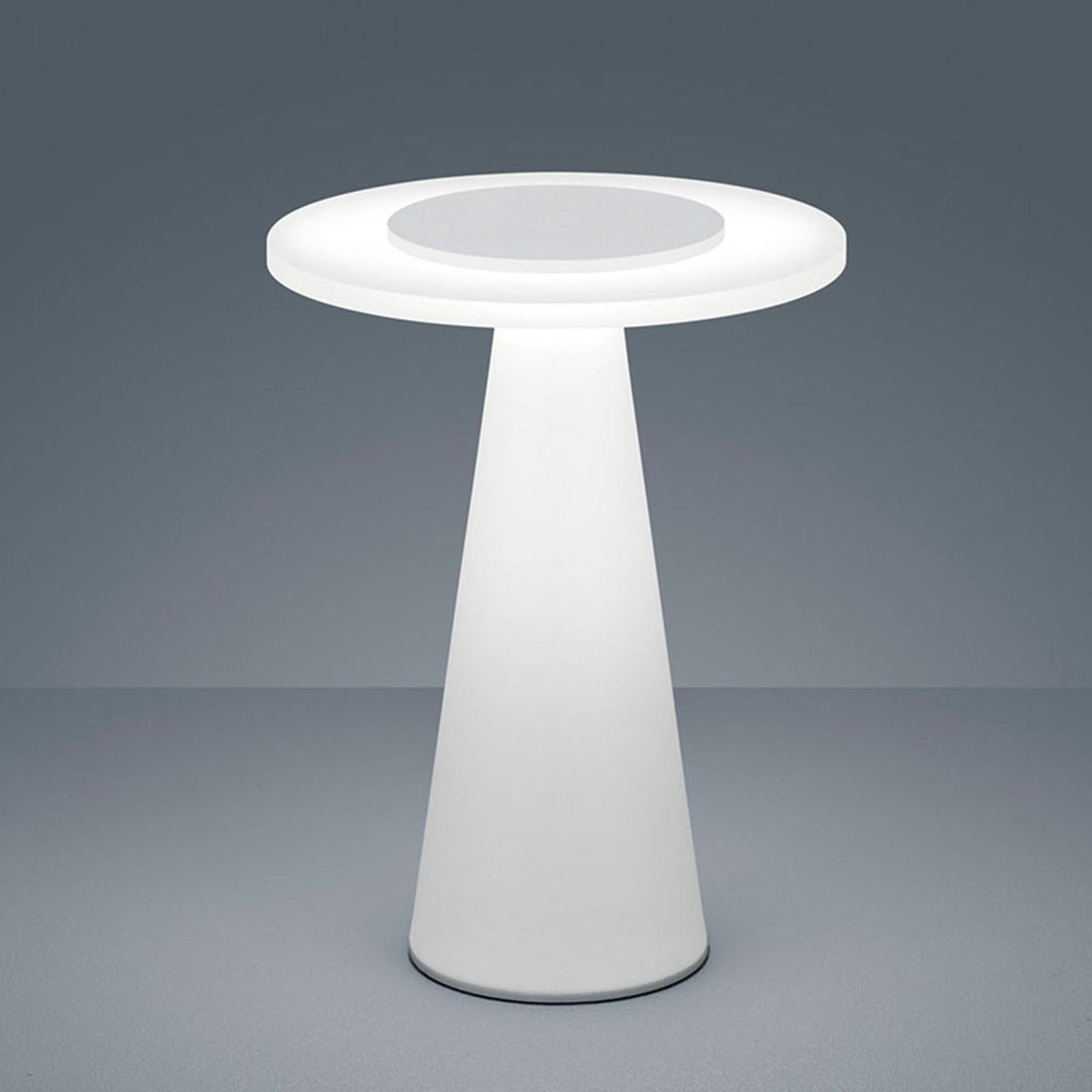 Helestra Bax lampa stołowa ze ściemniaczem, biała