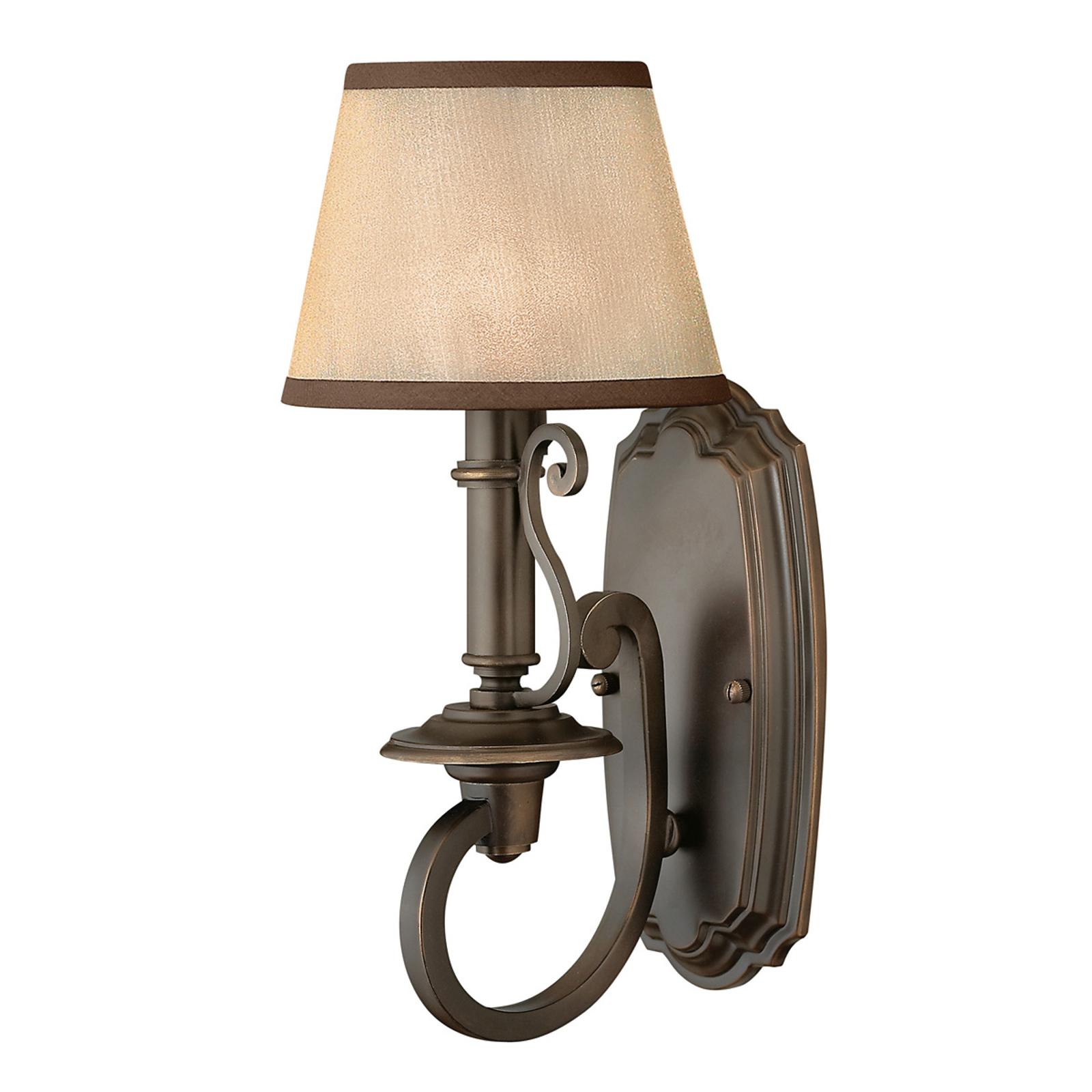 Plymouth Wall Light with Organza Fabric Shade_3048114_1
