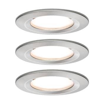 Paulmann 3-delt spot Nova Coin rund, 3 x dæmpbar