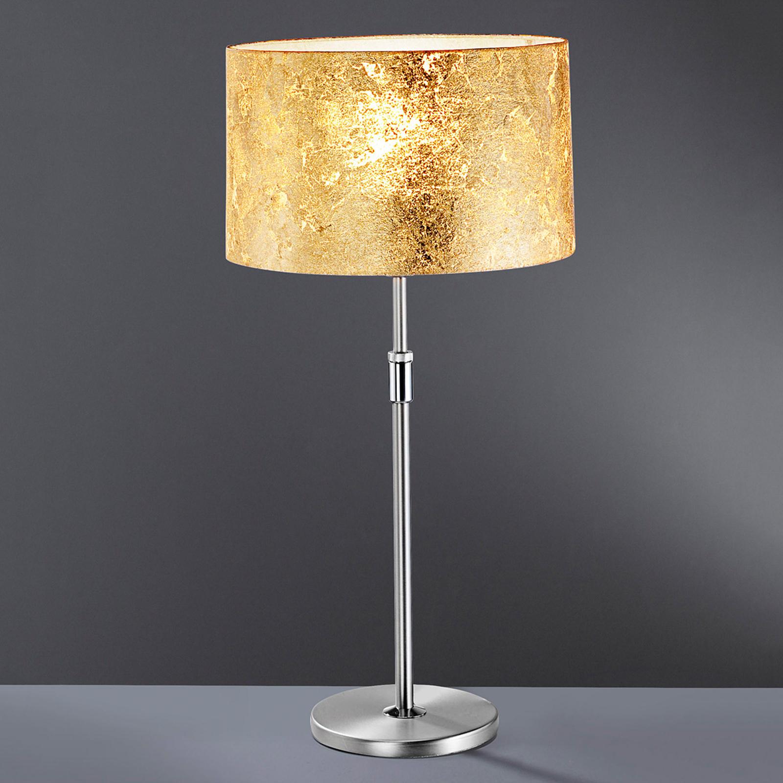 Lampada da tavolo Alea Loop con oro in foglia